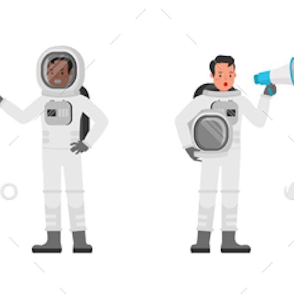 Astronaut Vector Character Design.