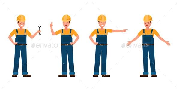 Builder Vector Character Design. - People Characters