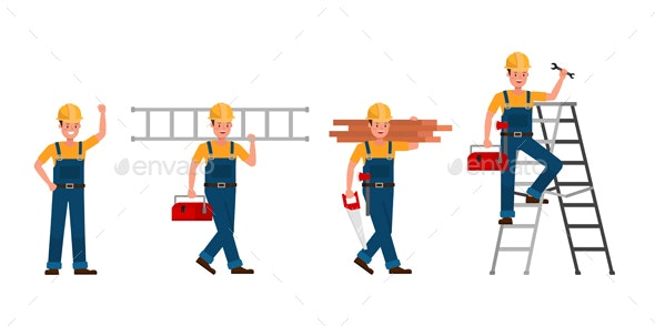 Builder Vector Character Design. - People Characters