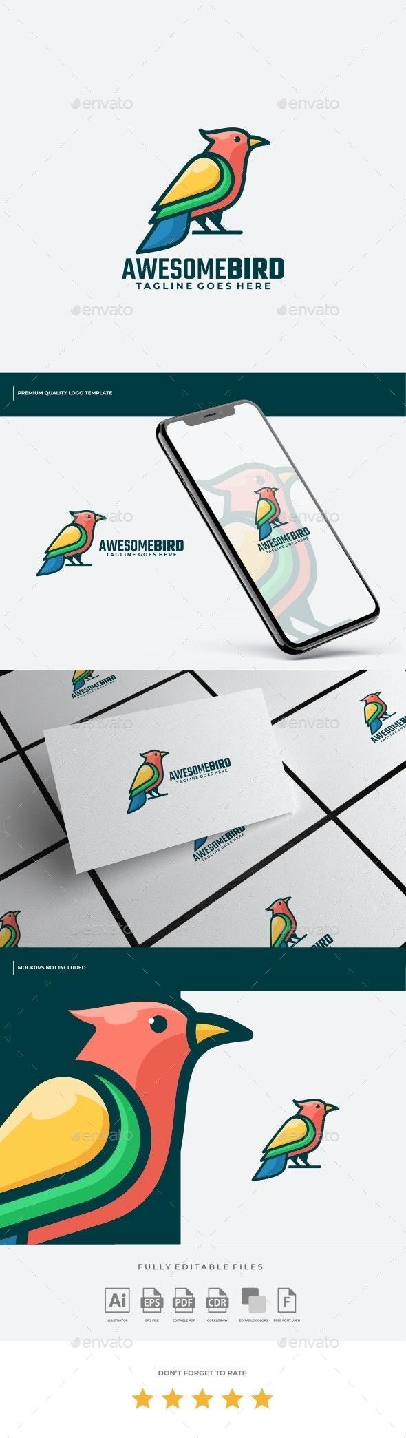 Bird Colorful Logo Template - Animals Logo Templates