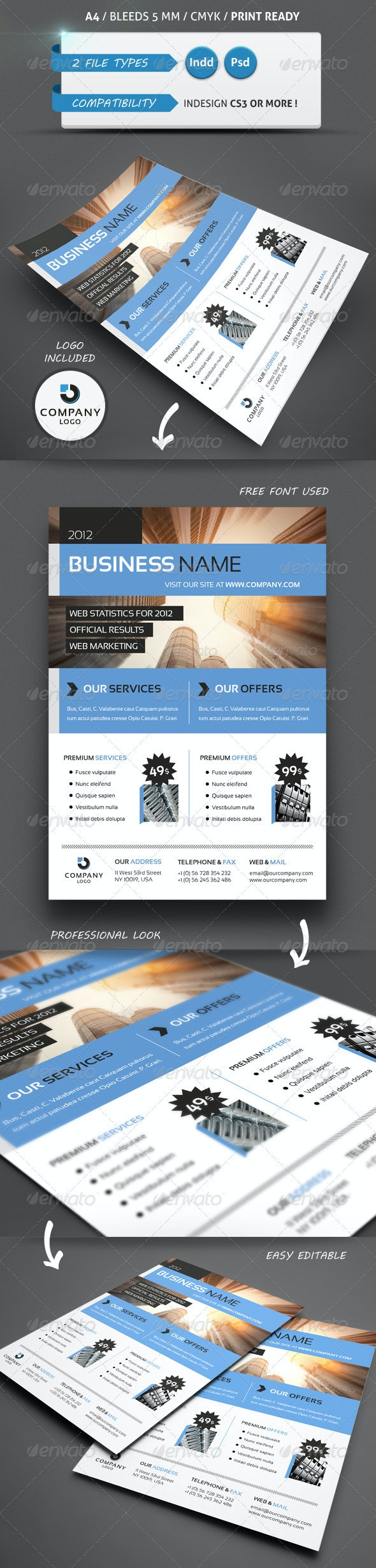 MODERN BUSINESS FLYER TEMPLATE A4 - Commerce Flyers