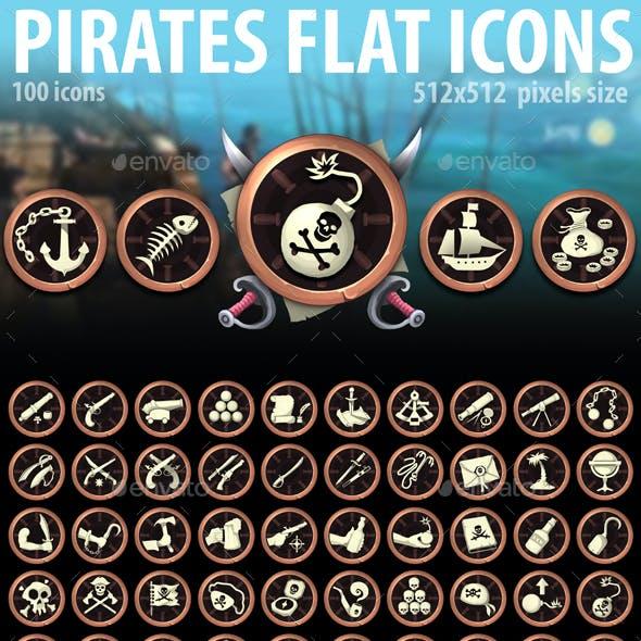 Pirates Flat Icons