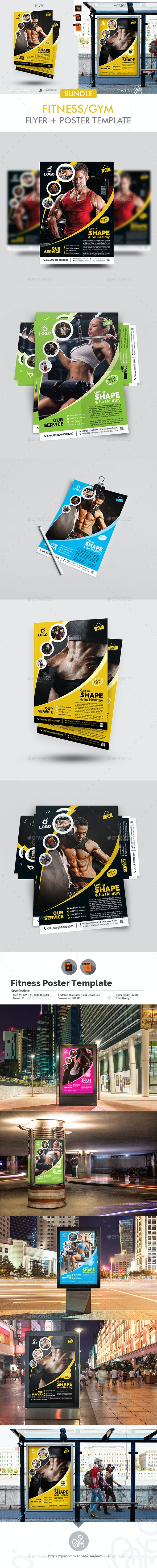 Fitness Flyer + Poster Bundle - Sports Events