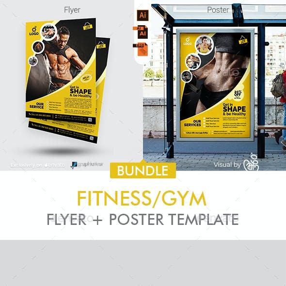 Fitness Flyer + Poster Bundle