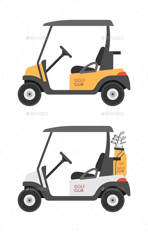 Golf car - Vectors