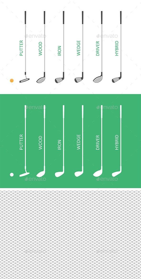 Golf club set - Vectors
