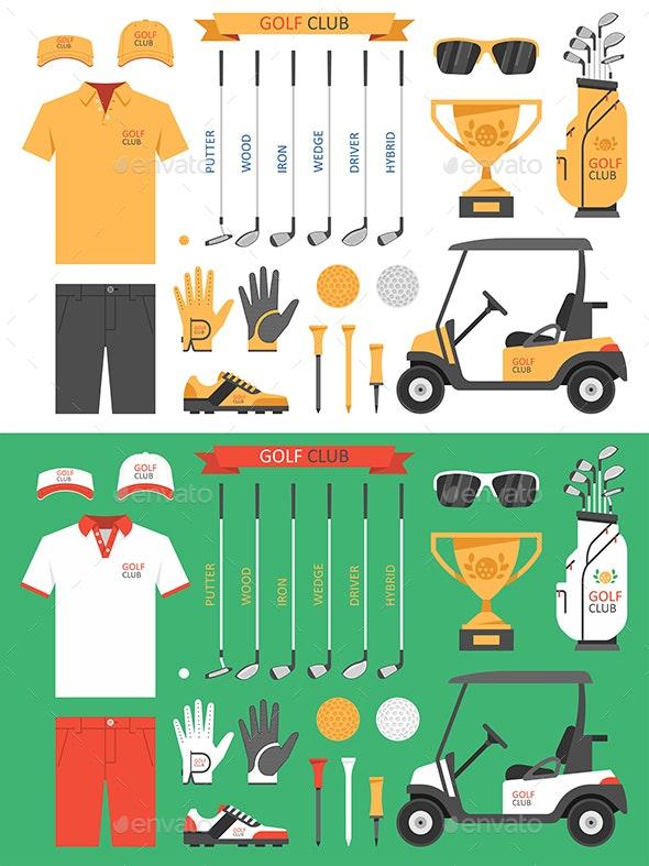Golf club, golf - Vectors