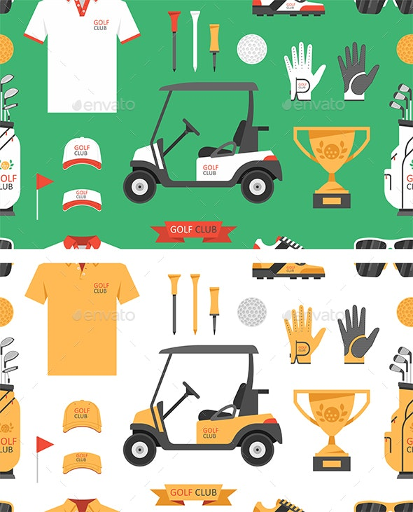 Seamless pattern with Golf game - Vectors