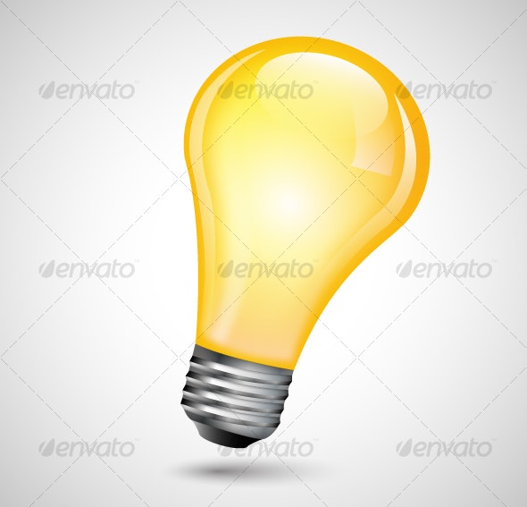 Vector Light Bulb - Man-made Objects Objects