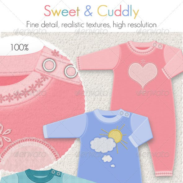 Baby Clothing for Winter; 4 Fleece Suits