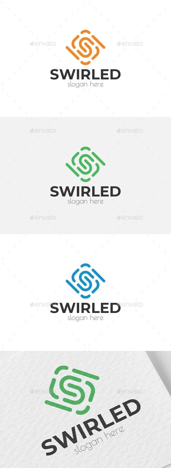 Swirled S Letter Logo - Letters Logo Templates