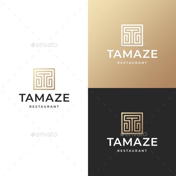 Maze T Letter Logo - Letters Logo Templates