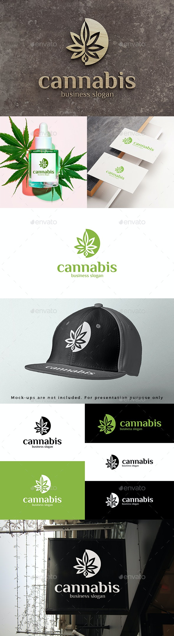 Cannabis Logo Abstract Marijuana Leaf - Nature Logo Templates