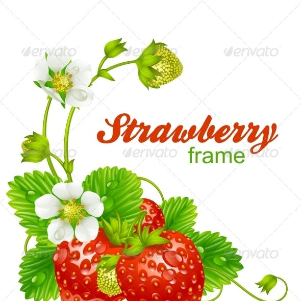 Vector strawberry frame.