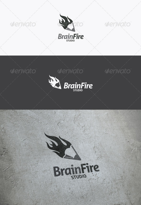 Brain Fire Logo - Objects Logo Templates