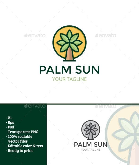 Palm Sun - Nature Logo Templates