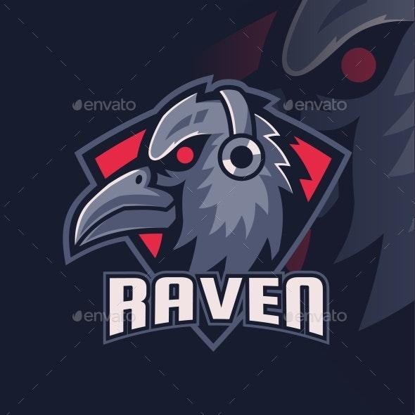 Mascot Raven Gaming - Animals Logo Templates