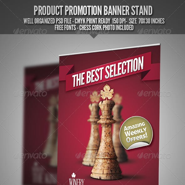 Product Promotion Banner Stand