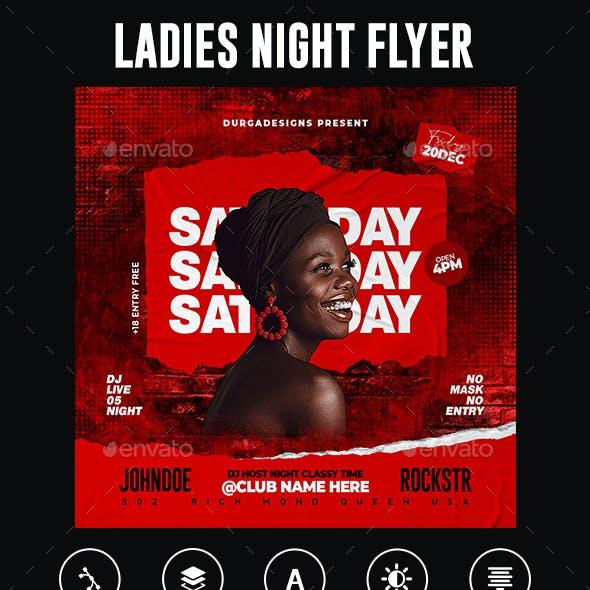 Ladies Night Club Flyer Template