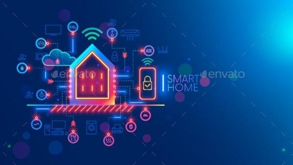Smart Home System Concept - Technology Conceptual