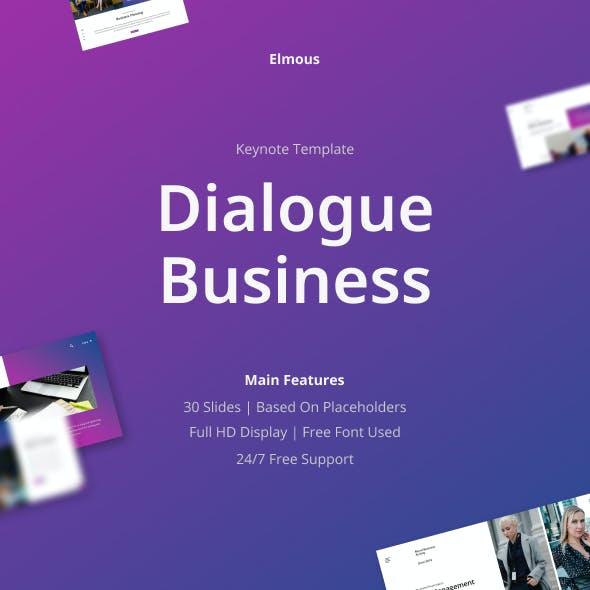 Dialogue Business Keynote Presentation Template