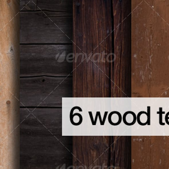 6 natural coloured wood texture pack
