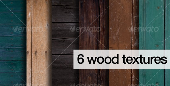6 natural coloured wood texture pack - Wood Textures