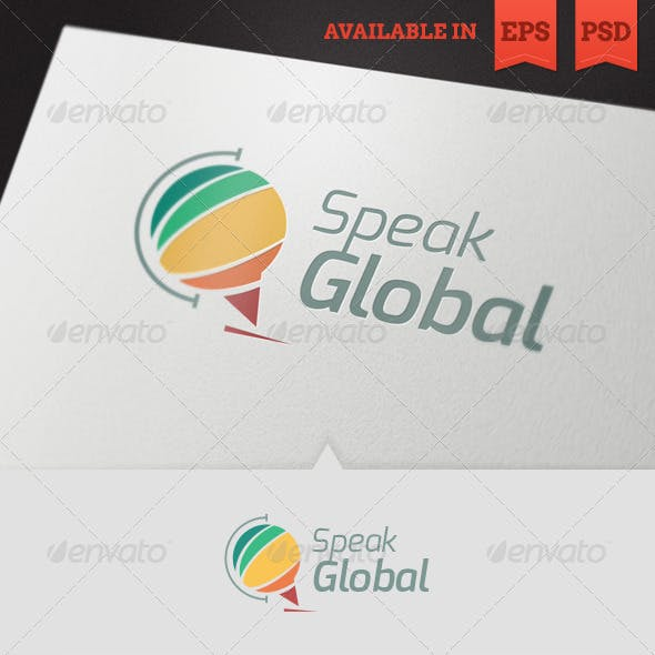 Speak Global Logo Template V2