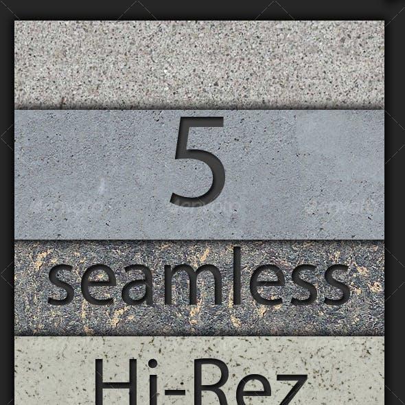 5 Hi-Rez Seamless Concrete Textures