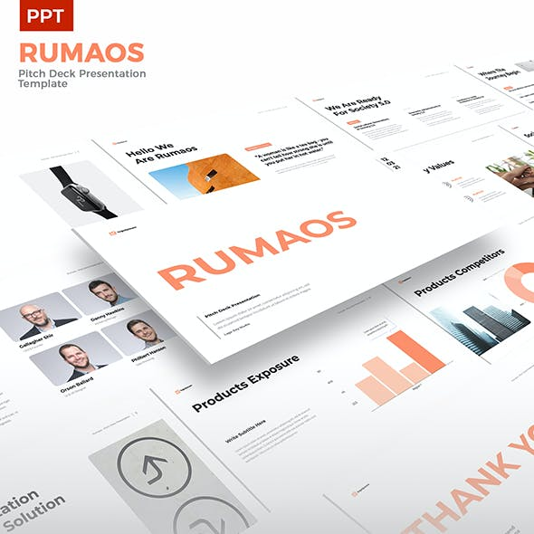 Rumaos - Pitch Deck Presentation PPT Template