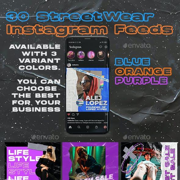 30 PSD Streetwear Instagram Feed