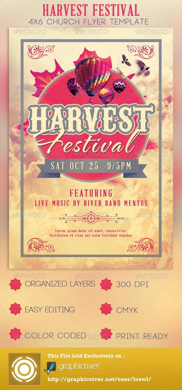 Harvest Festival Church Flyer Template - Church Flyers