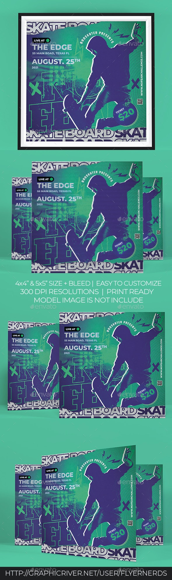 Skate Board Sports Flyer - Sports Events