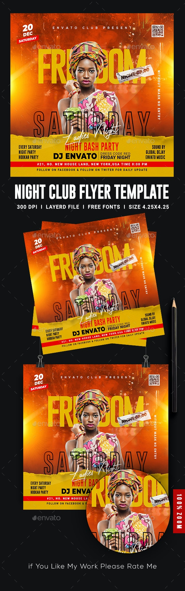 Ladies Night Club Flyer Template - Flyers Print Templates