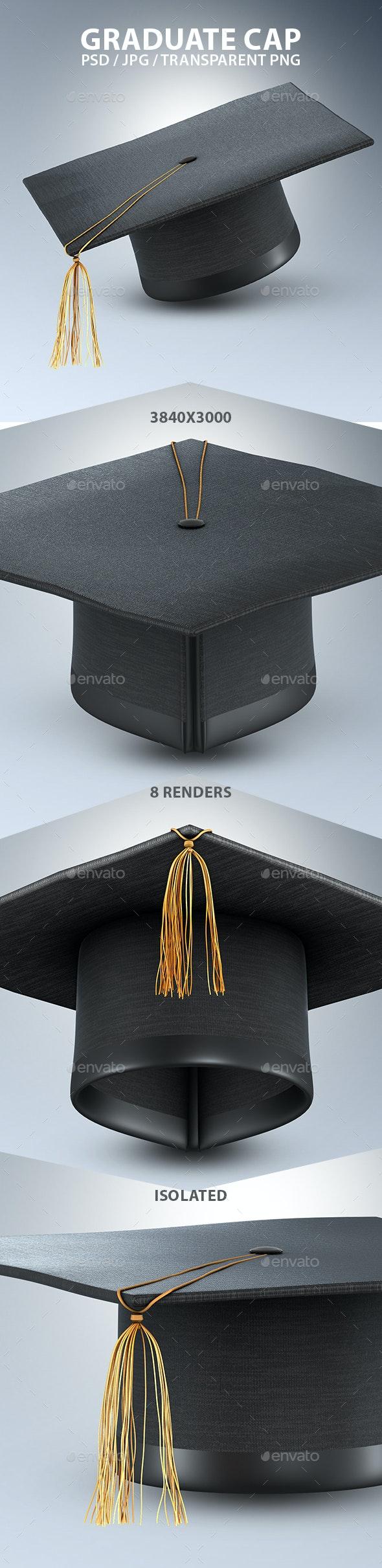Graduate Cap 3D Renders - Objects 3D Renders