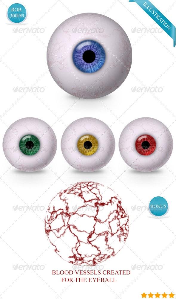 Realistic Eye-Ball - Illustrations Graphics