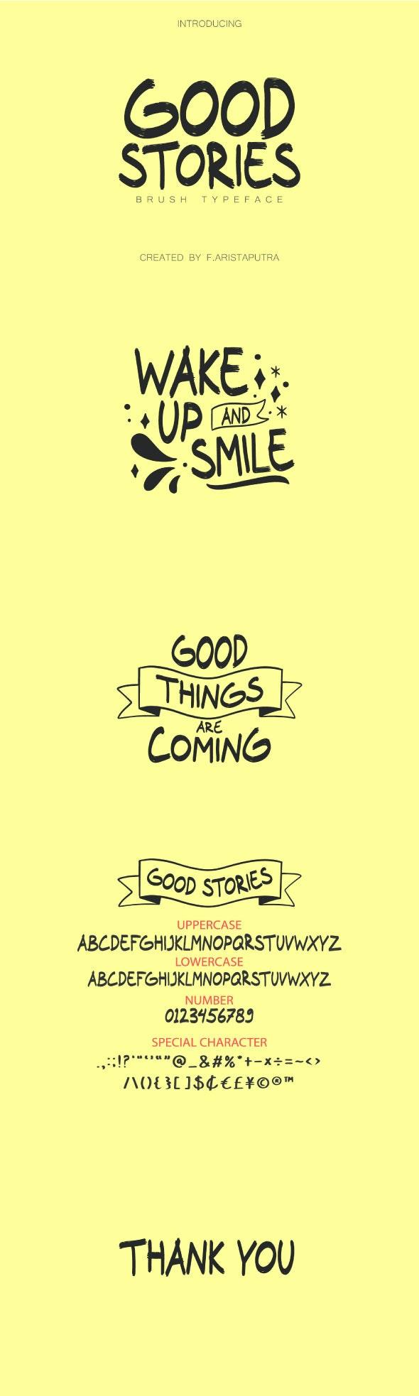 Good Stories - Sans-Serif Fonts