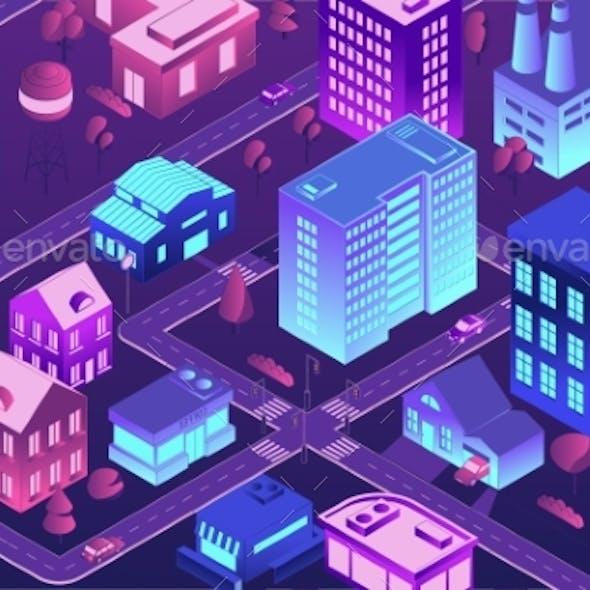Isometric Futuristic City