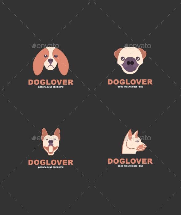 Dog logo set template - Logo Templates