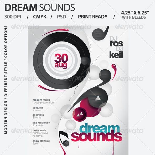 Dream Sounds Party Flyer