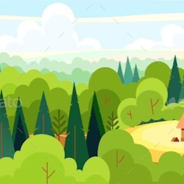 Medieval Fairy Tale Magical Landscape Panorama