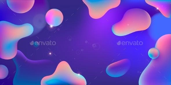 Vector Illustration Abstract Multicolor Liquid - Abstract Conceptual