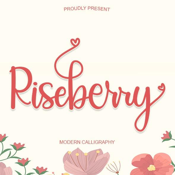 Riseberry - Calligraphy Script