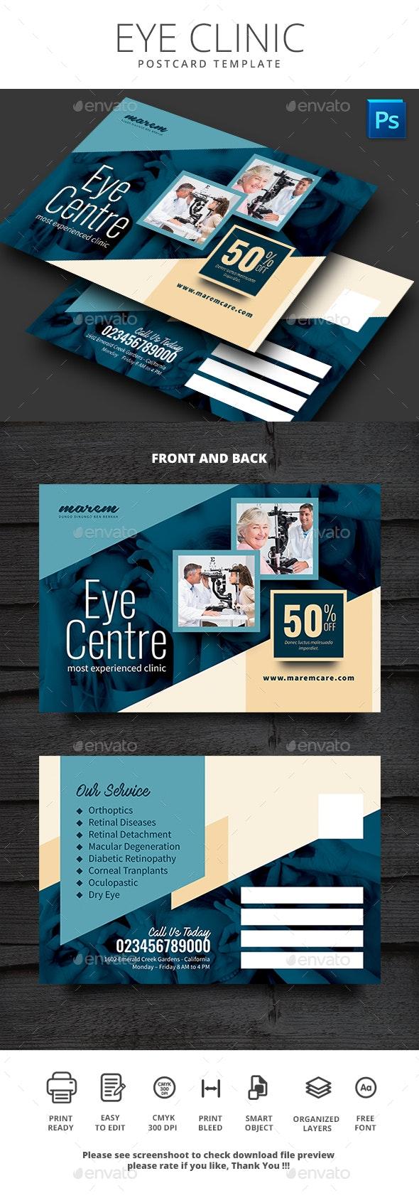 Eye Clinic Postcard - Cards & Invites Print Templates