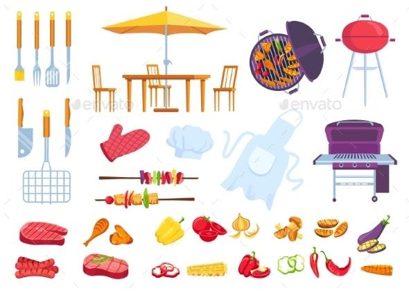 Bbq Picnic Food - Food Objects