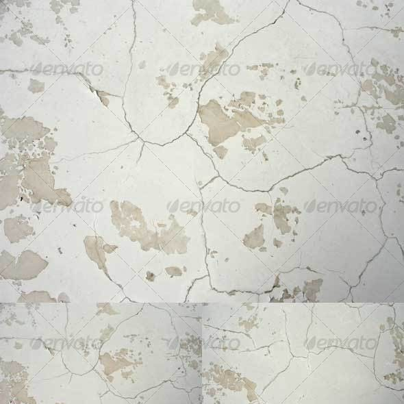 White Wall with Cracks (Set of 12)