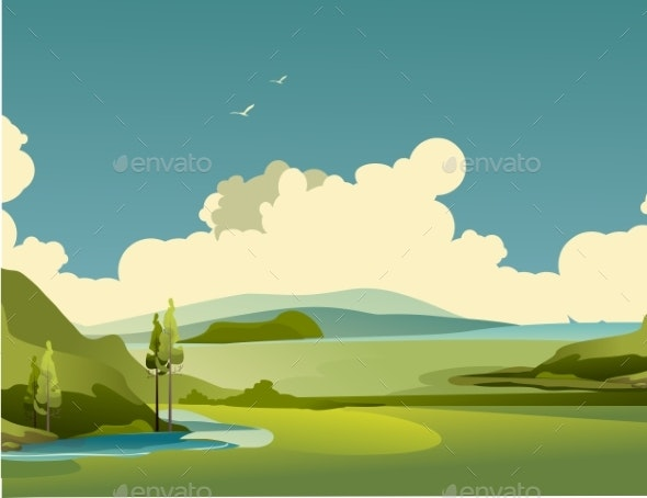 Nature Rural Landscape Summer Day - Landscapes Nature