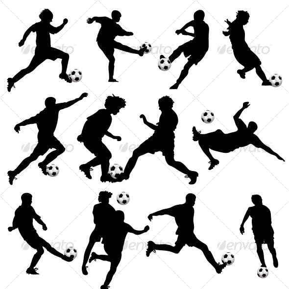 Vector Soccer Silhouettes