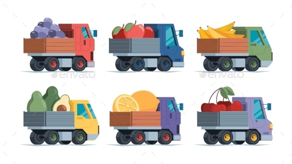 Fruits Delivery - Miscellaneous Vectors