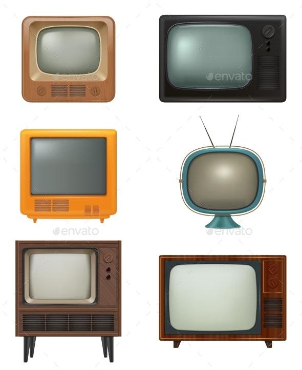 Retro Tv - Objects Vectors